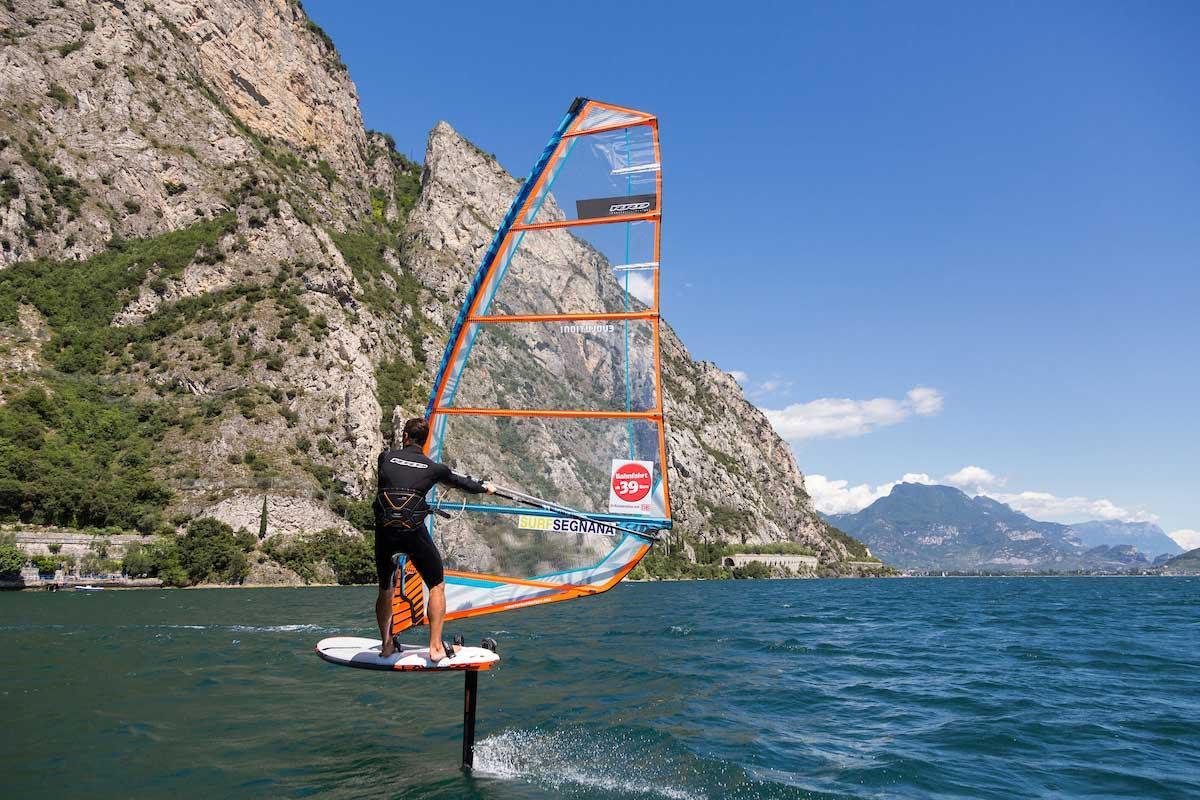 Foiling on Lake Garda