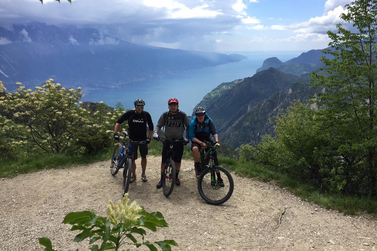 MTB in Tremalzo, mit Blick auf den Gardasee!