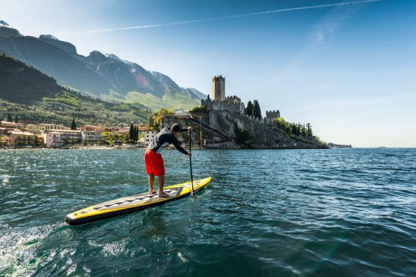 A full day of SUPing in Torbole and Riva del Garda