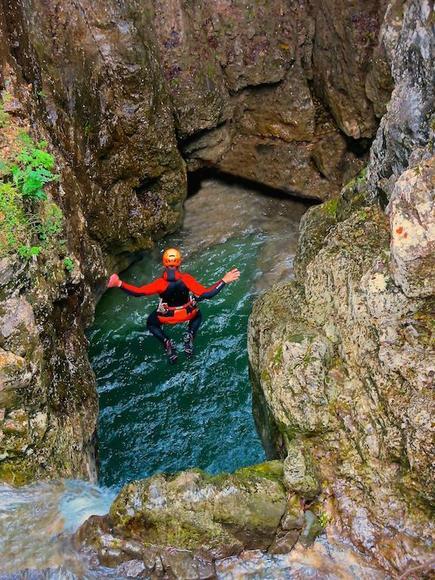 Canyoning territorio Lago di Garda